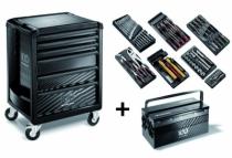Composition d'outillage : Servante ROLL 6 tiroirs + composition 7 modules édition limitée 100 ans FACOM ROLL.6M3CM100Y