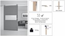 Coulissant porte intérieure bois : Exterus / 150 kg