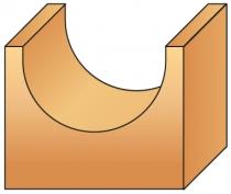 Fraise à bois : Mèche profil à gorge carbure 2 coupes