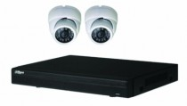 Vidéo surveillance : Kit vidéo IP 2 dômes POE 2MP 1080P