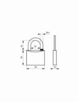 Cadenas à clés : Laiton de sûreté
