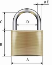 Cadenas à clés : Laiton massif - série Vachette