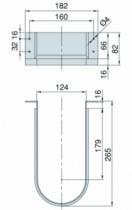 Agencement de cuisine : Sous siphon en plastique courbe pour tiroir