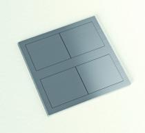 Enrouleur - prolongateur : Bloc 2 prises carré encastrable - inox