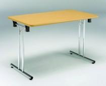 Pieds de table rabattables : Jeux pieds de table pliante chromé