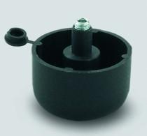 Pied de meuble ø 49 mm : Pied plastique noir
