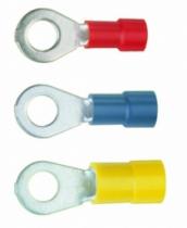Accessoires fils et câbles : Cosses anneaux à sertir pré-isolées PVC