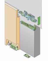 Coulissant porte intérieure bois : Kit complet Hidden