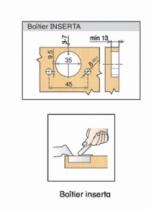 Rotation : Porte applique - ouverture 110°