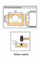 Rotation : Porte semi-applique épaisse - ouverture 95°