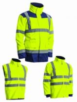 Vêtement de travail : Parka 4 en 1 - haute visibilité