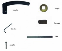 Verrou et serrure électronique autonome : Accessoires BI-CODE
