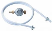 Accessoires de gaz : Kit tuyau caoutchouc + détendeur avec tétine