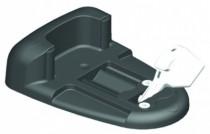 Ferrure de portes et de portails : Sabot à bascule latérale composite