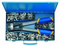 Accessoires fils et câbles : Coffret d'assortiment de cosses tubulaires + pince