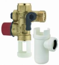 Robinetterie sanitaire domestique : Groupe de sécurité droit + siphon