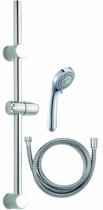 Robinetterie sanitaire domestique : Set douchette + flexibles + barre de douche