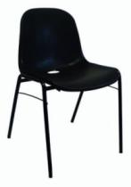 Mobilier de chantier : Chaise coquille noire