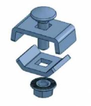 """Gamme Fil OB Click"""" : Kit OB20 / OB30 / TRCC 6 x 20 pour chemin de câbles fil"""