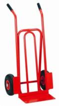 Manutention : Diable à bavette fixe et roues gonflées - charge 300 kg