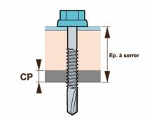 Vis pour charpente - bardage - toiture : Vis autoperceuse - support acier