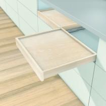 Coulisse invisible pour tiroir bois : Coulisse sortie totale MOVENTO 760 BU - BLUMOTION intégré