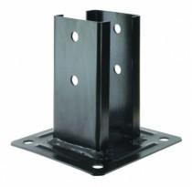 Connecteur métallique assemblage bois : Kit pied de poteau finition noire