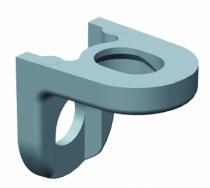 Accessoire pour tiroir antaro\intivo : Équerre percée nickelée