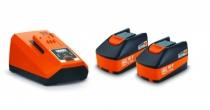 Batterie - chargeur - lampe électro-portatif : Set de démarrage 6 Ah ALG 80