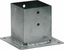 Connecteur métallique assemblage bois : Pied de poteau carré de jardin à boulonner PPJBT