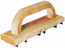 Outil de maçon : Poignée bois - 6 lames acier - longueur 25 cm