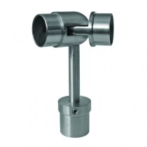 Main courante et garde-corps inox 316 : Raccord pour support main courante orientable - ø 42,4 mm