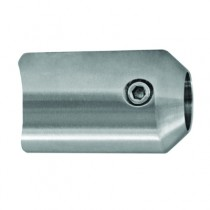 Main courante et garde-corps inox 316 : Support axial pour barrre ø 12 mm