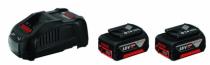 Batterie - chargeur - lampe électro-portatif : Pack 2 batteries Li-ion 18 V 5 Ah + chargeur