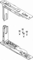 Ferrure Giesse aluminium pour gorge européenne : Kit paumelles OF CHIC invisible