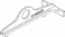 Ferrure Giesse aluminium pour gorge européenne : Gabarit de pose compas OB CHIC