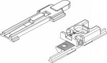 Ferrure Giesse aluminium pour gorge européenne : Fermeture supplementaire compas chic invisible   04357000