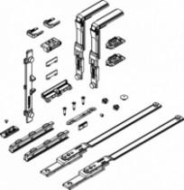 Ferrure Giesse aluminium pour gorge européenne : Kit mécanisme OF sécurisé 01175