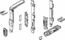 Ferrure Giesse aluminium pour gorge européenne : Mécanisme fermeture OB