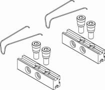 Paumelle PVC et aluminium : Fixation paumelle DOMINA