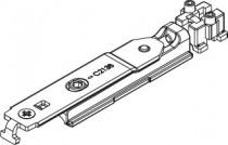 Ferrure Giesse aluminium pour gorge européenne : Adaptateur pour paumelle semi fixe | 04728