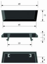 Ventilation : Déflecteur standard en plastique