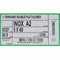 VIS TERRASSE INOX A2 5X60 TORX 25