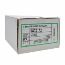 Fixation terrasse bois : Inox A2 - torx 25 - pour plancher bois sur lambourde bois