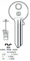 Cylindre européen 5 goupilles : Ébauche de clé Iseo