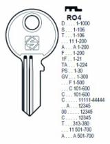 Cylindre européen 5 goupilles : Ébauche de clé Ronis