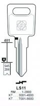 Cylindre européen 5 goupilles : Ébauche de clé LAS