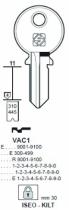 Cylindre européen 5 goupilles : Ébauche de clé Vachette