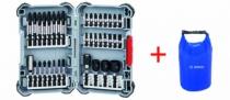 Composition d'embouts : Kit coffret de vissage Impact 36 pièces + sac étanche 5 litres