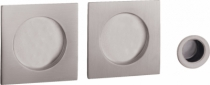Serrure de porte coulissante : Set porte coulissante rosace carrée
